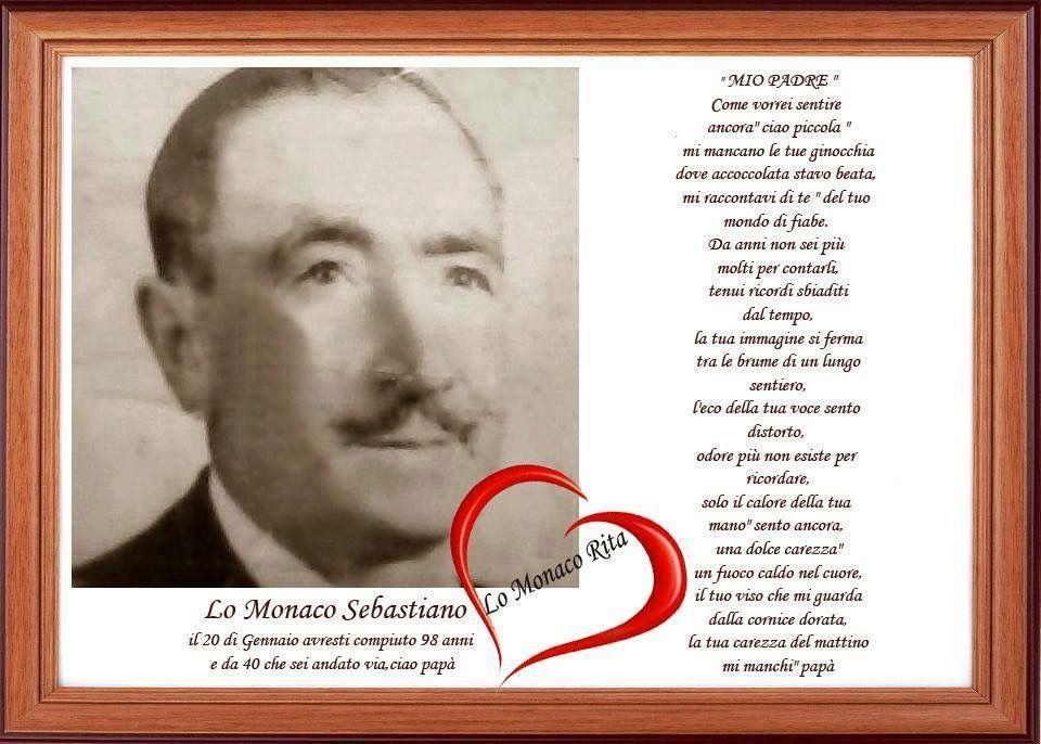 Memoria per Sebastiano Lo Monaco, la carezza di papà