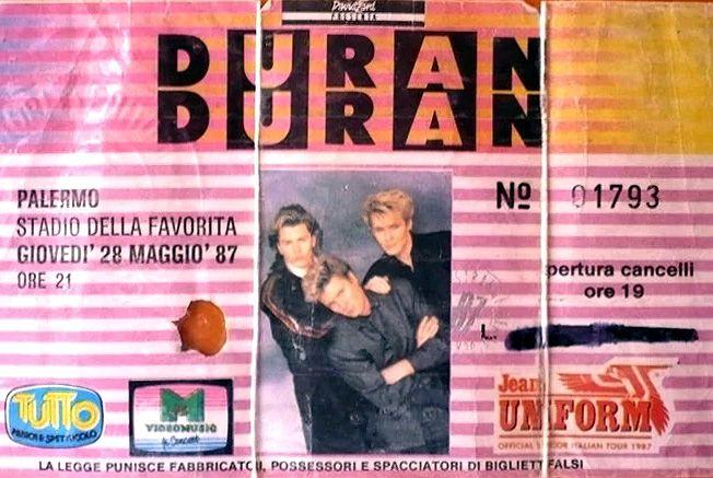 Memoria per Quando il concerto dei Duran Duran parlò rosanero...